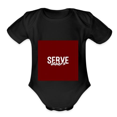 Serve Others Wallpaper - Organic Short Sleeve Baby Bodysuit