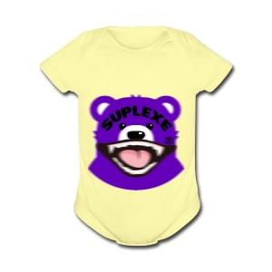 PURPLE {BLUR} BE@R x BADGER TEE - Short Sleeve Baby Bodysuit