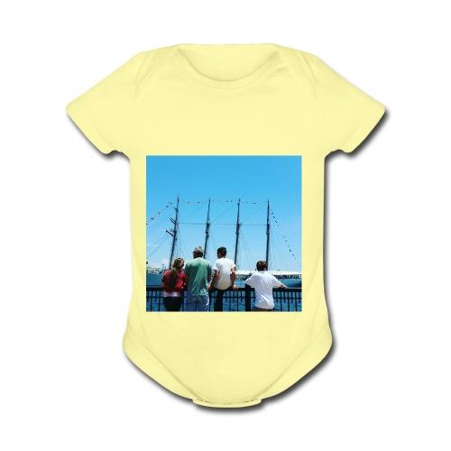 Mi Familia.and Heather - Organic Short Sleeve Baby Bodysuit
