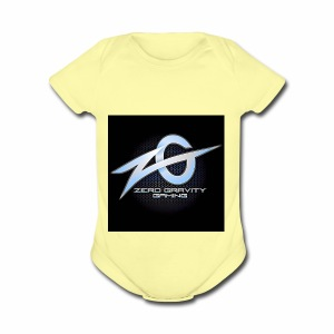 zeroGamingGRAVITY logol - Short Sleeve Baby Bodysuit
