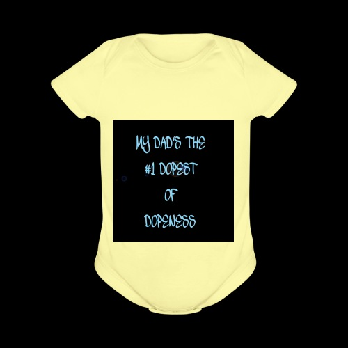 DOPEST DAD - Organic Short Sleeve Baby Bodysuit