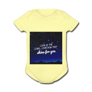 Look at the stars look how they shine for you - Short Sleeve Baby Bodysuit