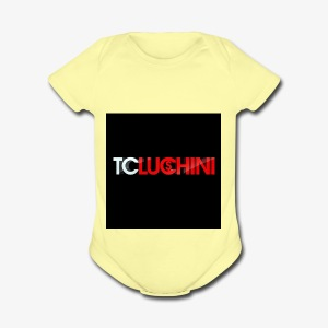 TC LUCHINI LOGO - Short Sleeve Baby Bodysuit