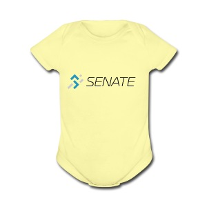 Color-Logo-with-Text - Short Sleeve Baby Bodysuit