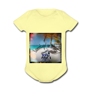 Leiny tropical vacation - Short Sleeve Baby Bodysuit