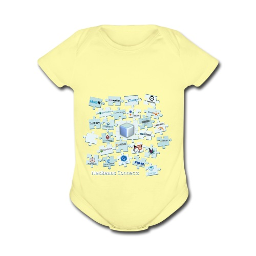 NetBeans Connects - Organic Short Sleeve Baby Bodysuit