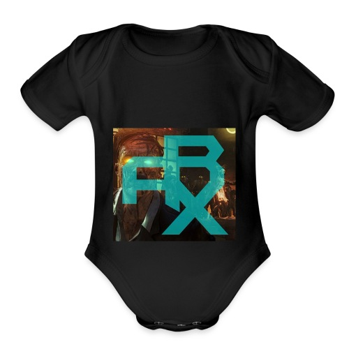 THE ARX LOGO - Organic Short Sleeve Baby Bodysuit