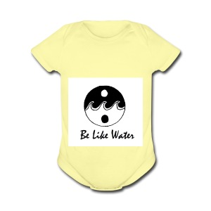Be Like Water YING - Short Sleeve Baby Bodysuit