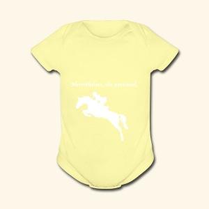Nevertheless, she persisted (Jumper White) - Short Sleeve Baby Bodysuit