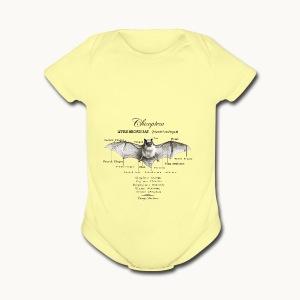 LITTLE BROWN BAT- CAROLYN SANDSTROM - Short Sleeve Baby Bodysuit