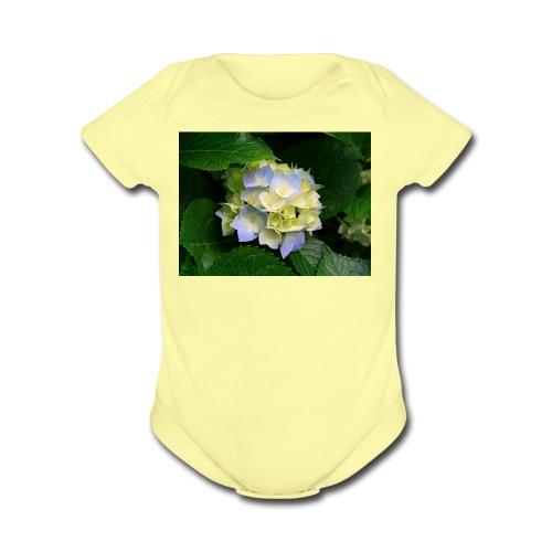 its a flower shirt - Organic Short Sleeve Baby Bodysuit