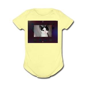 Tineey cat - Short Sleeve Baby Bodysuit