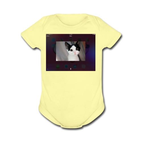 Tineey cat - Organic Short Sleeve Baby Bodysuit