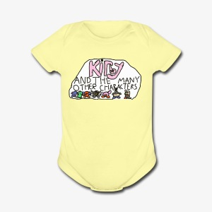 Kirby and the many other characters - Short Sleeve Baby Bodysuit