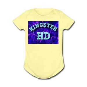 Kingsterhd poster t-shirt - Short Sleeve Baby Bodysuit