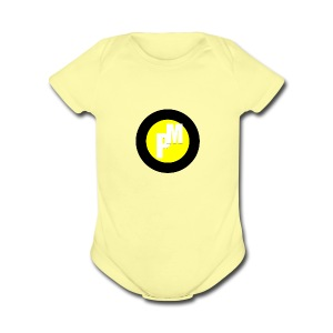 M3ga Merch Yellow - Short Sleeve Baby Bodysuit