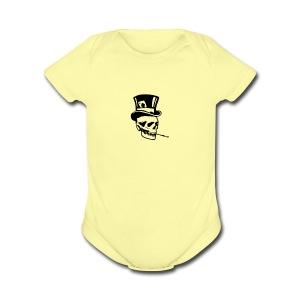 classy skull - Short Sleeve Baby Bodysuit
