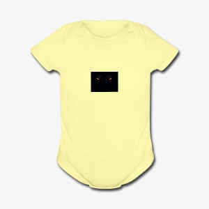 wolf eye merch - Short Sleeve Baby Bodysuit