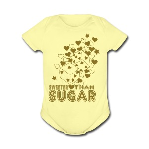 SWEETER THAN SUGAR - Short Sleeve Baby Bodysuit