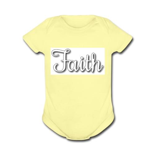 Faith products - Organic Short Sleeve Baby Bodysuit