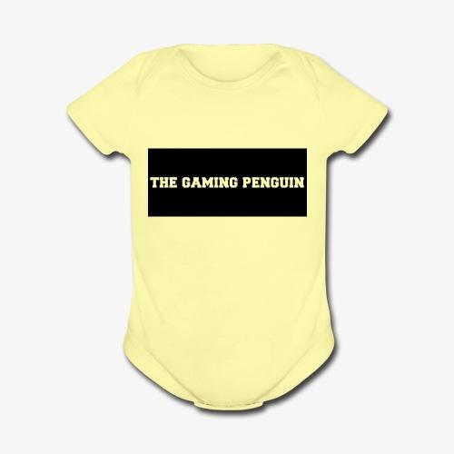 TheGamingPenguin Rectangle logo - Organic Short Sleeve Baby Bodysuit