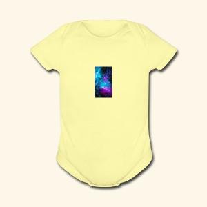 Galaxy - Short Sleeve Baby Bodysuit