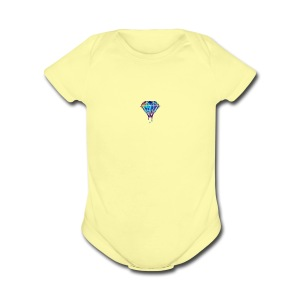The Savage max Diamond - Short Sleeve Baby Bodysuit