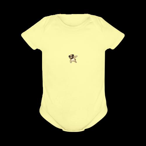 dog dab - Organic Short Sleeve Baby Bodysuit