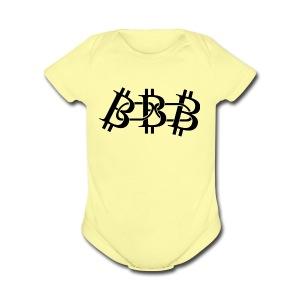 bitcoin - Short Sleeve Baby Bodysuit
