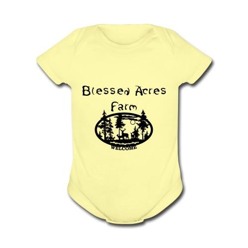 Blessed Acres Farm - Organic Short Sleeve Baby Bodysuit