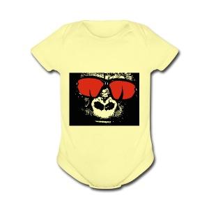 gorilla primate ape - Short Sleeve Baby Bodysuit