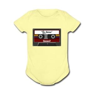 cassette la tierra - Short Sleeve Baby Bodysuit
