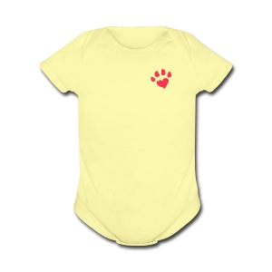 Unconditional Paw Heart - Short Sleeve Baby Bodysuit