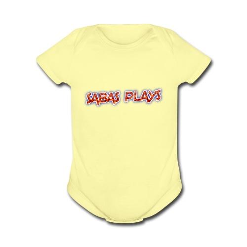 SABAS PLAYS - Organic Short Sleeve Baby Bodysuit