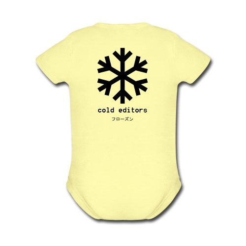 cold editors-frozen - Organic Short Sleeve Baby Bodysuit