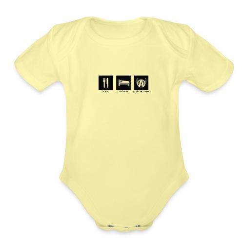 esa black - Organic Short Sleeve Baby Bodysuit
