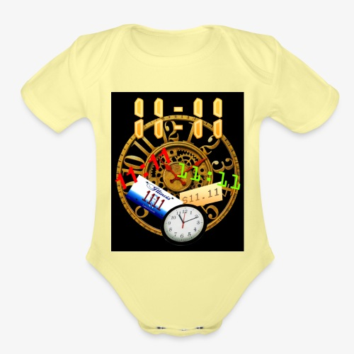 New 1111 - Organic Short Sleeve Baby Bodysuit