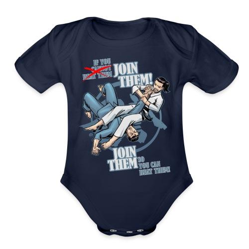 Judo shirt - Jiu Jitsu shirt - Join Them - Organic Short Sleeve Baby Bodysuit
