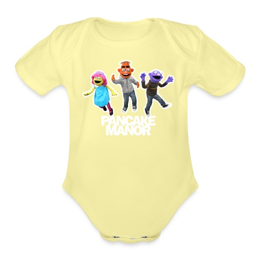 Pancake Mmanor Jump - Organic Short Sleeve Baby Bodysuit