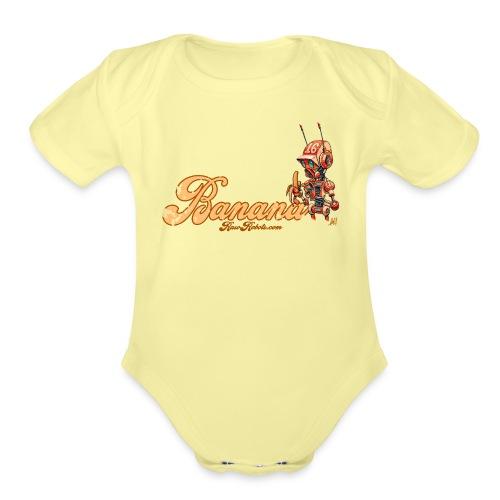 Banana! 🍌 - Organic Short Sleeve Baby Bodysuit