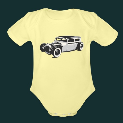 LUD Baby Short Sleeve Onezy - Organic Short Sleeve Baby Bodysuit