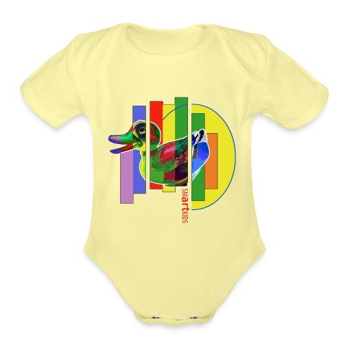 smARTkids - Gutsy Duck - Organic Short Sleeve Baby Bodysuit