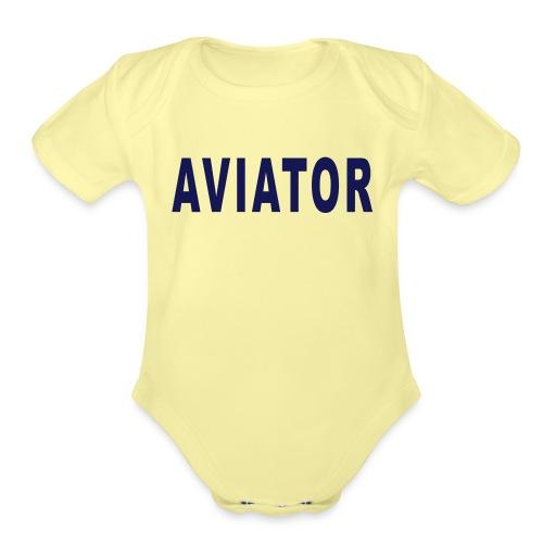 aviator simple - Organic Short Sleeve Baby Bodysuit