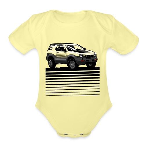 VX SUV Lines - Organic Short Sleeve Baby Bodysuit