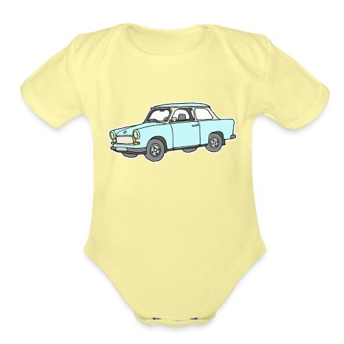 Trabant (lightblue) - Organic Short Sleeve Baby Bodysuit