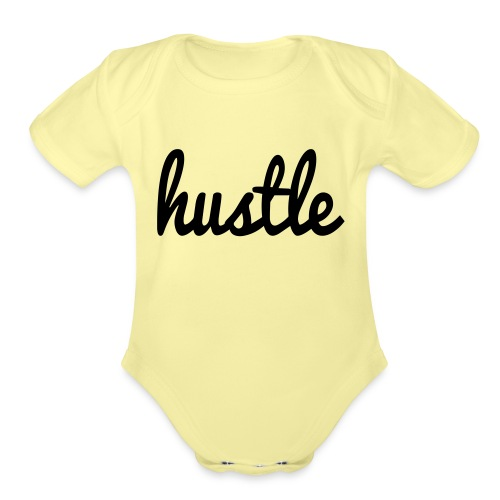 hustle vector - Organic Short Sleeve Baby Bodysuit