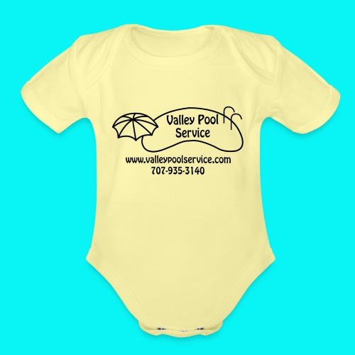 BESTLOGO trans (Black) - Organic Short Sleeve Baby Bodysuit