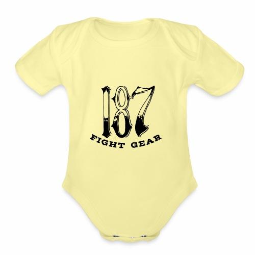 Trevor Loomes 187 Fight Gear Logo Best Sellers - Organic Short Sleeve Baby Bodysuit