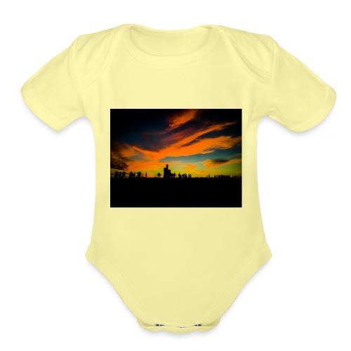 Cottesloe Beach - Organic Short Sleeve Baby Bodysuit