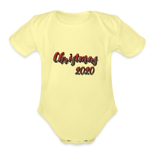christmas 2020 - Organic Short Sleeve Baby Bodysuit